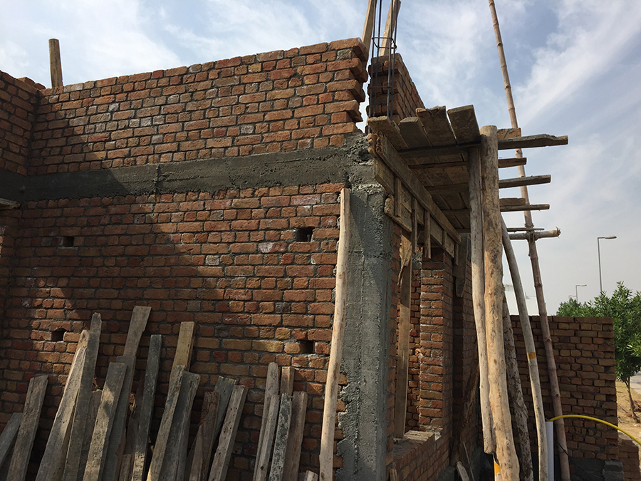 . Completion of walls and Concrete Slab Shuttering   Construction Update 5